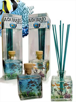 Mikado Aquario 200 ml. , decoración adhesivo transparente similar a pecera .