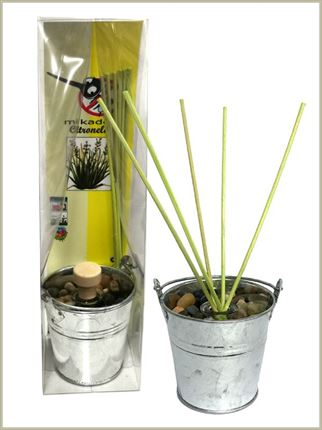 Mikado jardín 50 ml. con citronella natural y decorado con piedras