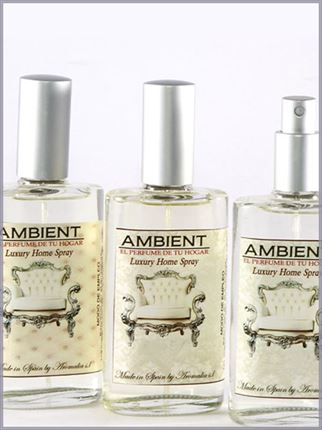 Spray de ambiente perfumes .Botella de cristal con spray rellenable .